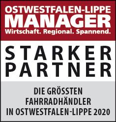 Siegel: STARKER PARTNER - Die größten Fahrradhändler in Ostwestfalen-Lippe