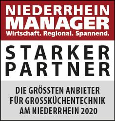 Siegel: STARKER PARTNER - Die größten Anbieter von Großküchentechnik am Niederrhein