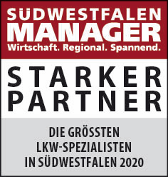 Siegel: STARKER PARTNER - Die größten LKW-Spezialisten in Südwestfalen