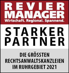Siegel: STARKER PARTNER - Die größten Rechtsanwaltskanzleien im Ruhrgebiet