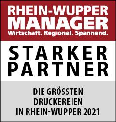 Siegel: STARKER PARTNER - Die größten Druckereien in Rhein-Wupper