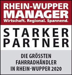 Siegel: STARKER PARTNER - Die größten Fahrradhändler in Rhein-Wupper