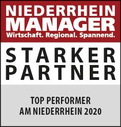 Siegel: STARKER PARTNER - Top Performer am Niederrhein