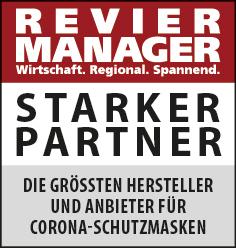 Siegel: STARKER PARTNER - Die größten Hersteller und Anbieter für Corona-Schutzmasken im Ruhrgebiet