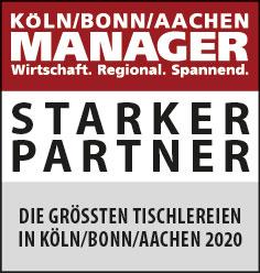 Siegel: STARKER PARTNER - Die größten Tischlereien in Köln/Bonn/Aachen