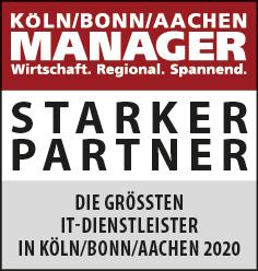 Siegel: STARKER PARTNER - Die größten IT-Dienstleister im Gebiet Köln/Bonn/Aachen