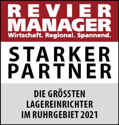 Siegel: STARKER PARTNER - Die größten Lagereinrichter im Ruhrgebiet