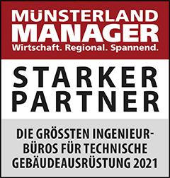 Siegel: STARKER PARTNER - Die größten Ingenieurbüros für technische Gebäudeausrüstung (TGA) im Münsterland