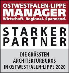 Siegel: STARKER PARTNER - Die größten Architekturbüros in Ostwestfalen-Lippe