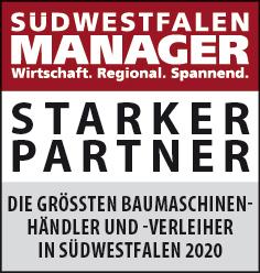 Siegel: STARKER PARTNER - Die größten Baumaschinenhändler und -verleiher in Südwestfalen