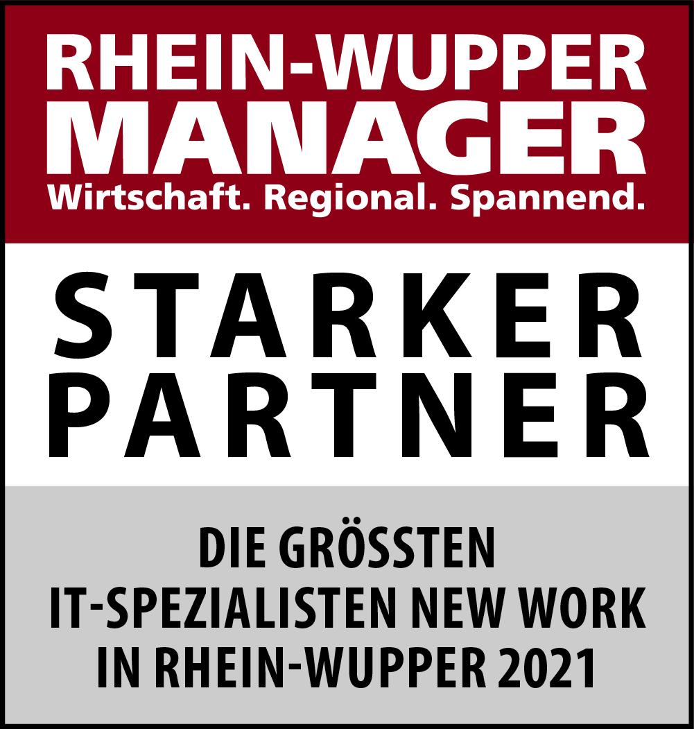 Siegel: STARKER PARTNER - Die größten IT-Spezialisten für New Work in Rhein-Wupper