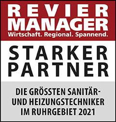 Siegel: STARKER PARTNER - Die größten Sanitär- und Heizungstechniker im Ruhrgebiet