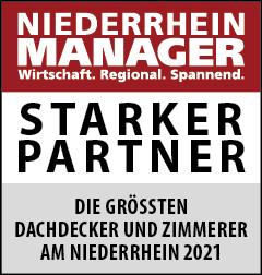 Siegel: STARKER PARTNER - Die größten Dachdecker und Zimmerer am Niederrhein