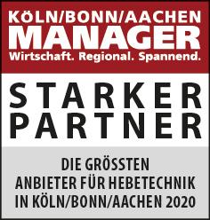 Siegel: STARKER PARTNER - Die größten Anbieter für Hebetechnik in Köln-Bonn/Aachen