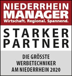 Siegel: STARKER PARTNER - Die größten Werbetechniker am Niederrhein