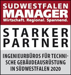 Siegel: STARKER PARTNER - Die größten Ingenieurbüros für technische Gebäudeausrüstung (TGA) in Südwestfalen