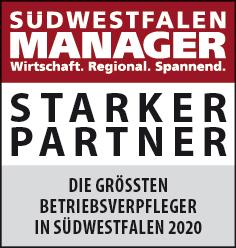Siegel: STARKER PARTNER - Die größten Betriebsverpfleger in Südwestfalen