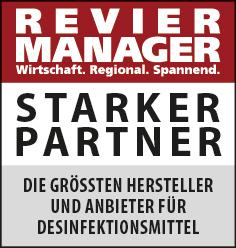 Siegel: STARKER PARTNER - Die größten Hersteller und Anbieter für Desinfektionsmittel im Ruhrgebiet