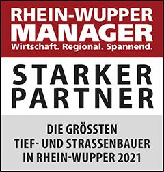 Siegel: STARKER PARTNER - Die größten Tief- und Straßenbauer in Rhein-Wupper