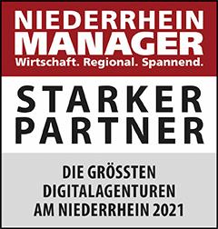 Siegel: STARKER PARTNER - Die größten Digitalagenturen am Niederrhein
