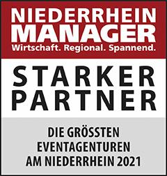 Siegel: STARKER PARTNER - Die größten Eventagenturen am Niederrhein