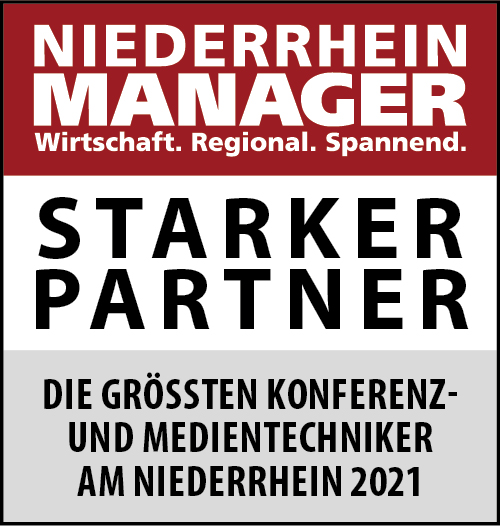 Siegel: STARKER PARTNER - Die größten Konferenz- und Medientechniker am Niederrhein