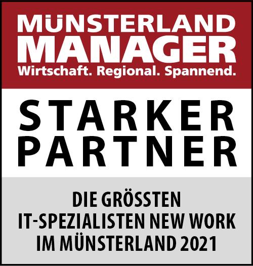 Siegel: STARKER PARTNER - Die größten IT-Spezialisten für New Work im Münsterland