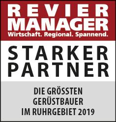 Siegel: STARKER PARTNER - Die größten Gerüstbauer im Ruhrgebiet