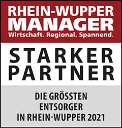 Siegel: STARKER PARTNER - Die größten Entsorger in Rhein-Wupper