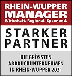 Siegel: STARKER PARTNER - Die größten Abbruchunternehmen in Rhein-Wupper