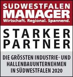 Siegel: STARKER PARTNER - Die größten Industrie- und Hallenbauunternehmen in Südwestfalen