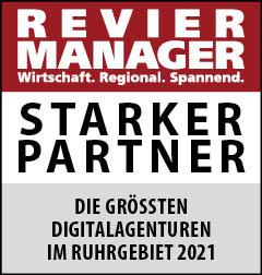 Siegel: STARKER PARTNER - Die größten Digitalagenturen im Ruhrgebiet
