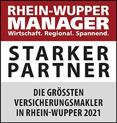 Siegel: STARKER PARTNER - Die größten Versicherungsmakler in Rhein-Wupper