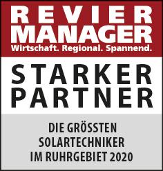Siegel: STARKER PARTNER - Die größten Solartechniker im Ruhrgebiet