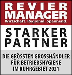 Siegel: STARKER PARTNER - Die größten Großhändler für Betriebshygiene im Ruhrgebiet