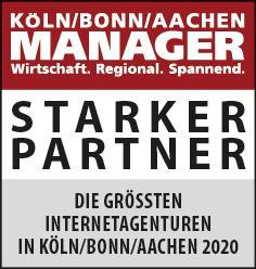 Siegel: STARKER PARTNER - Die größten Internetagenturen in Köln/Bonn/Aachen