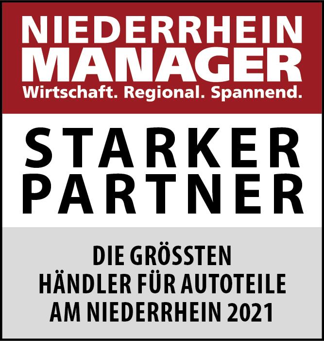 Siegel: STARKER PARTNER - Die größten Händler für Autoteile am Niederrhein
