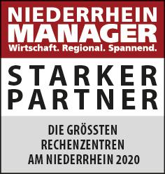 Siegel: STARKER PARTNER - Die größten Rechenzentren am Niederrhein