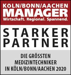 Siegel: STARKER PARTNER - Die größten Produzenten von Medizintechnik in Köln/Bonn/Aachen