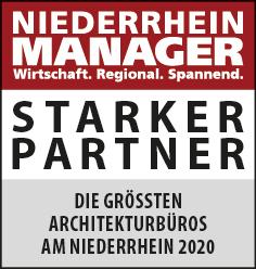 Siegel: STARKER PARTNER - Die größten Architekturbüros am Niederrhein