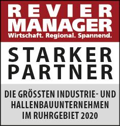 Siegel: STARKER PARTNER - Die größten Industrie- und Hallenbauunternehmen im Ruhrgebiet
