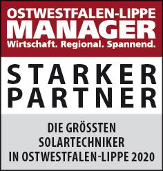 Siegel: STARKER PARTNER - Die größten Solartechniker in Ostwestfalen-Lippe