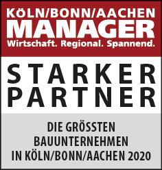 Siegel: STARKER PARTNER - Die größten Bauunternehmen in Köln/Bonn/Aachen