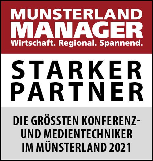Siegel: STARKER PARTNER - Die größten Konferenz- und Medientechniker im Münsterland
