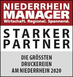 Siegel: STARKER PARTNER - Die größten Druckereien am Niederrhein
