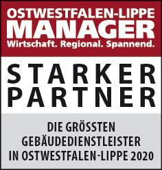 Siegel: STARKER PARTNER - Die größten Gebäudedienstleister in Ostwestfalen-Lippe