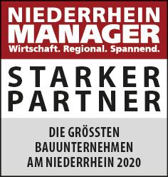 Siegel: STARKER PARTNER - Die größten Bauunternehmen am Niederrhein