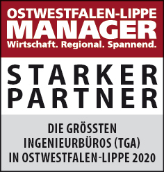 Siegel: STARKER PARTNER - Die größten Ingenieurbüros für technische Gebäudeausrüstung (Planung TGA) in Ostwestfalen-Lippe