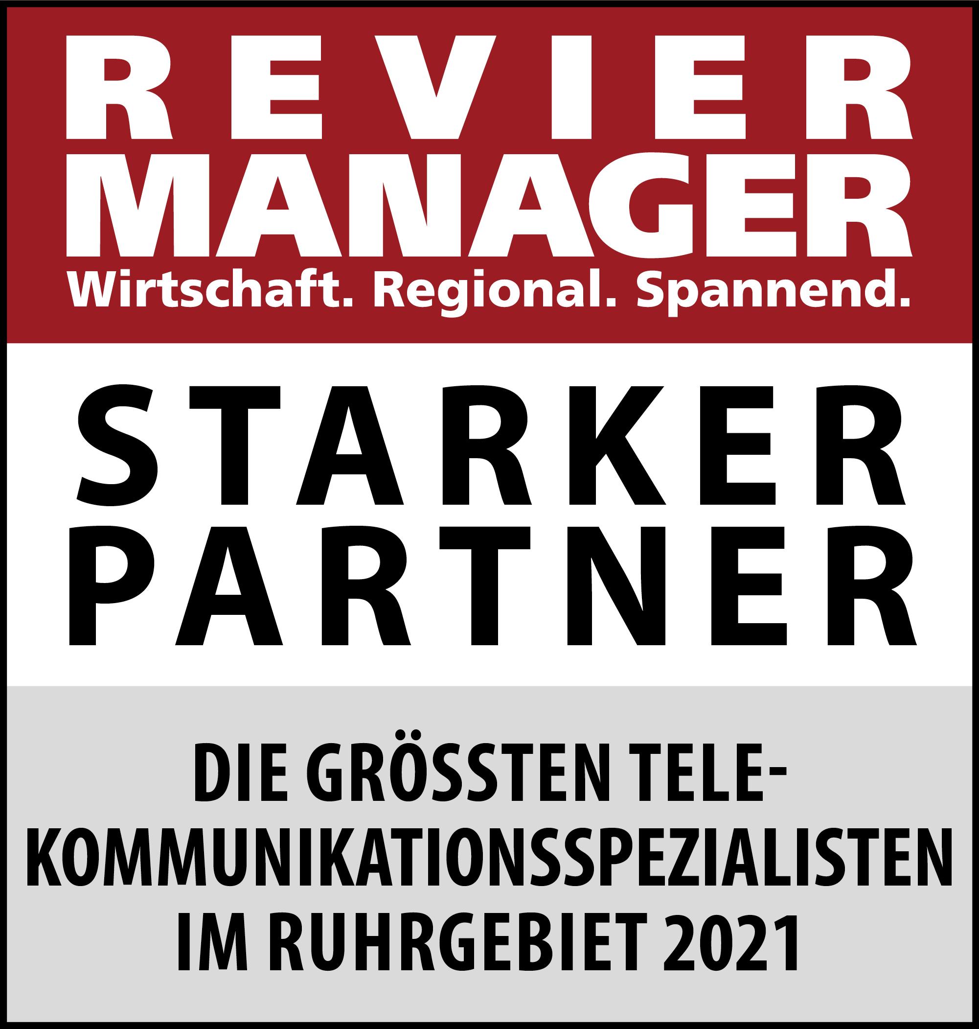 Siegel: STARKER PARTNER - Die größten Telekommunikations-Spezialisten im Ruhrgebiet