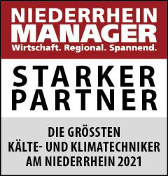 Siegel: STARKER PARTNER - Die größten Kälte- und Klimatechniker am Niederrhein